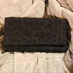 Black clutch with coin purse